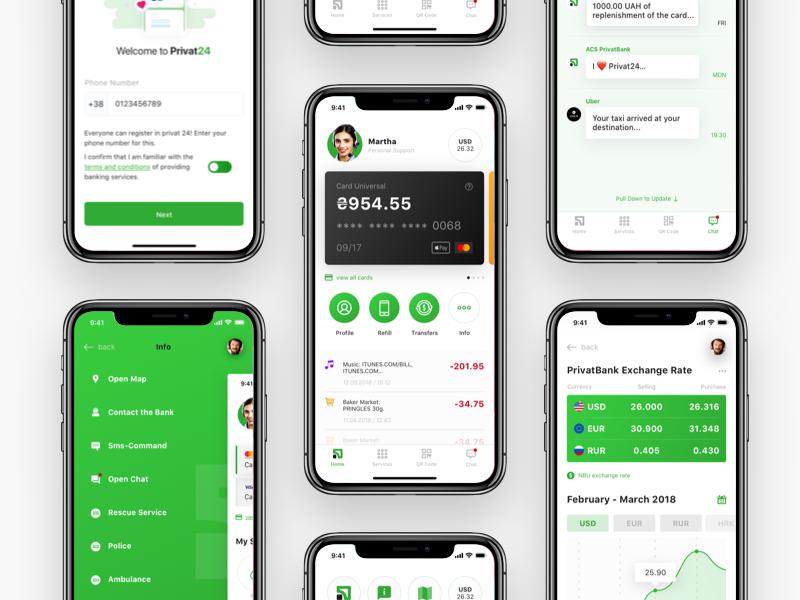 Privat Bank Mobile App Design Concept Mobile App Design App Design Presentation App