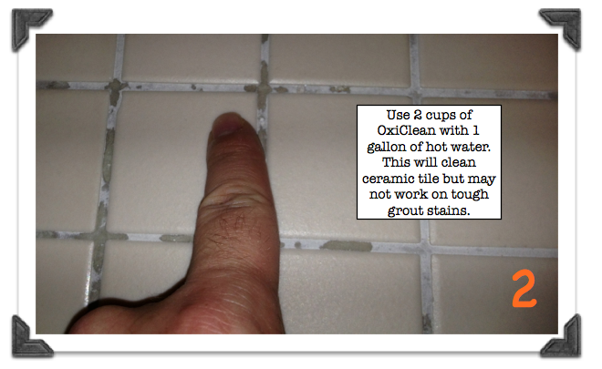 Superieur Good Recommendation On How Much OxiClean To Use To Clean Shower Ceramic  Tile. Cleaning Ceramic TilesGrout ...