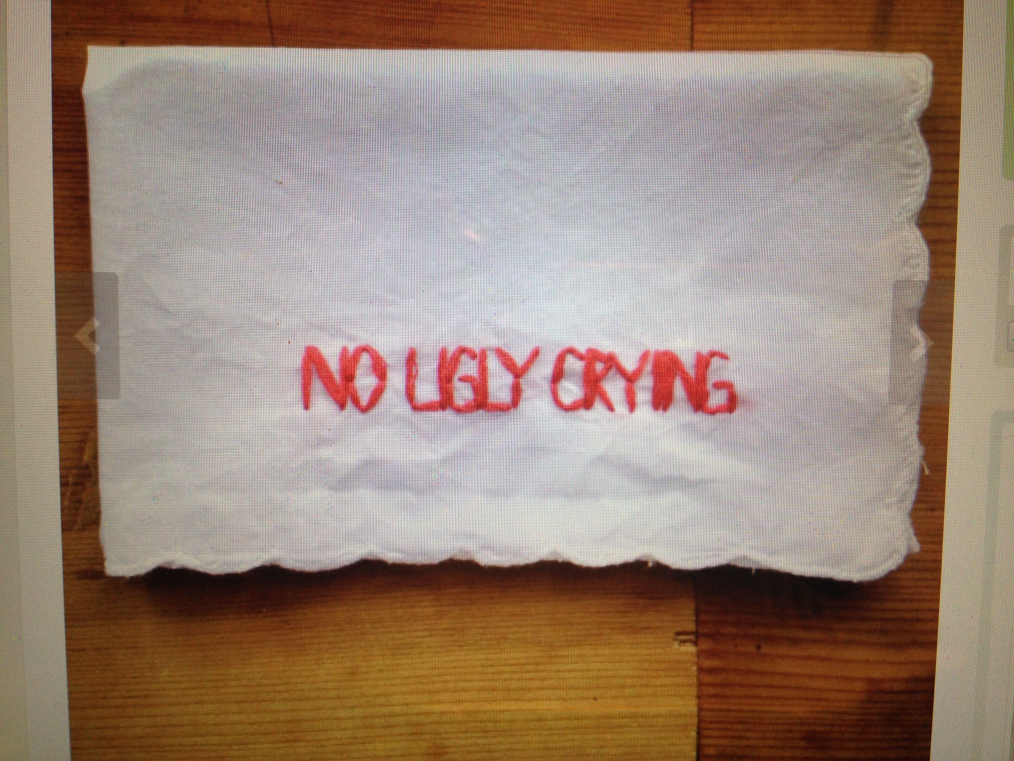 No ugly crying! Haha. Nice bridesmaids gift.