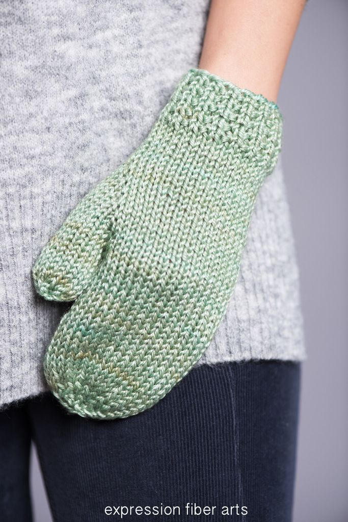 Almond Latte Free Knitted Mitten Pattern By Expression Fiber Arts