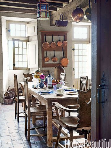 A 16th Century French Countryside Estate Country Kitchen French