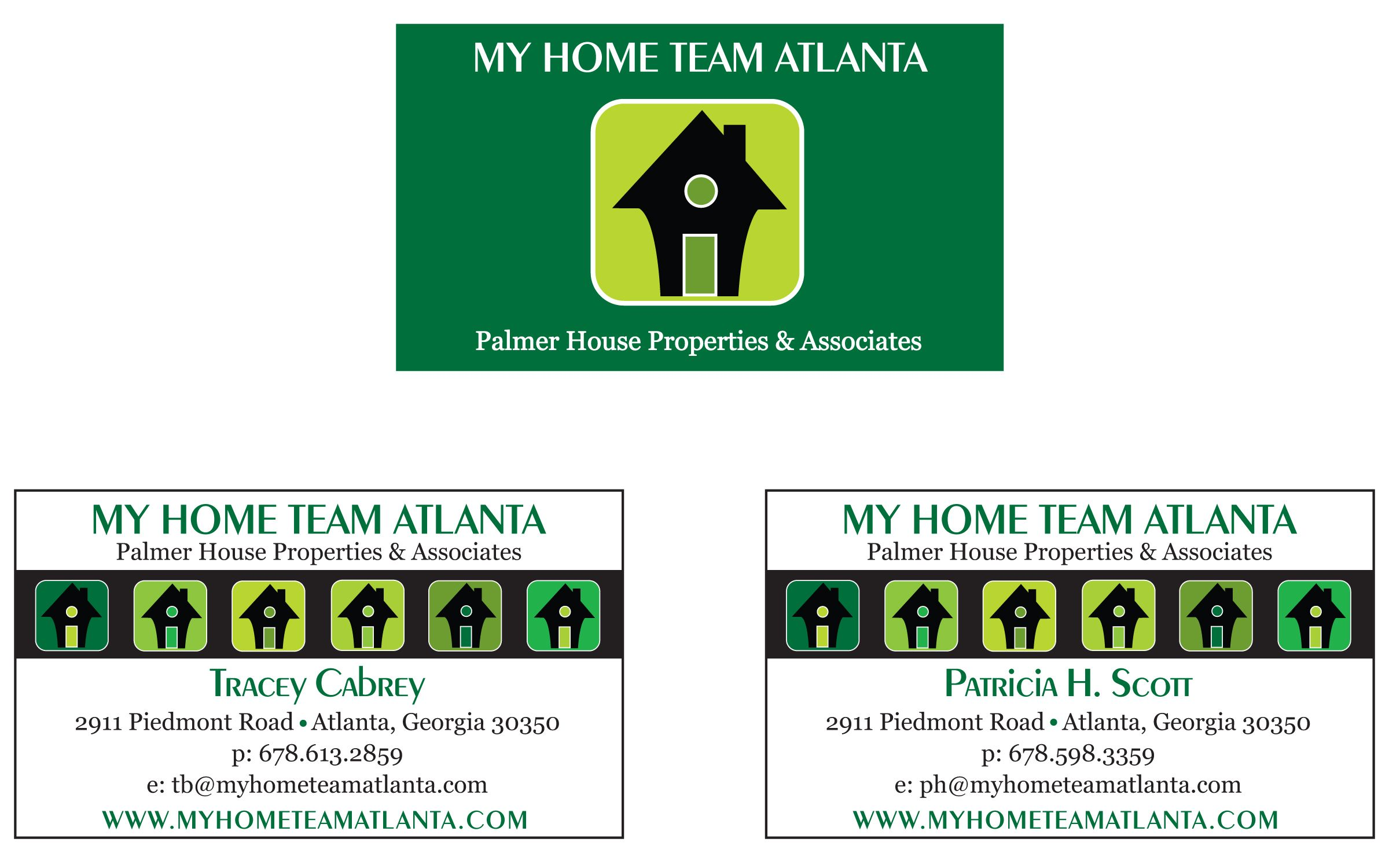 business card and logo design for atlanta real estate pany
