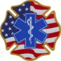 Emt Auto Accessories Auto Plates Flag Maltese Cross Star Of Life Reflective Decals Reflective Decals Maltese Cross Barn Quilt Patterns