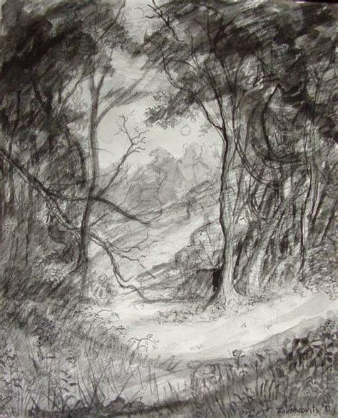 Charcoal Drawing Landscape Ad Barn
