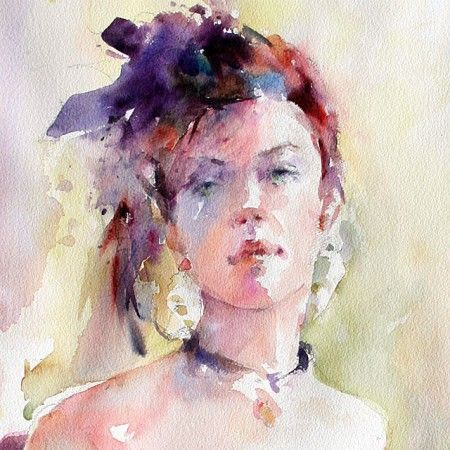 Janet Rogers Art Workshop Watercolor Impressions Flowers Faces