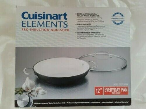 Cuisinart Elements Ceramica 12 Everday Pan With Cover Pro Induction No Stick Pan Ideas Of Pan Pan In 2020 Pan Wok Cooking Fry Pan Set