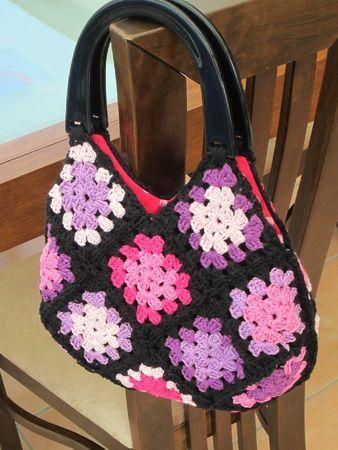 granny square purse