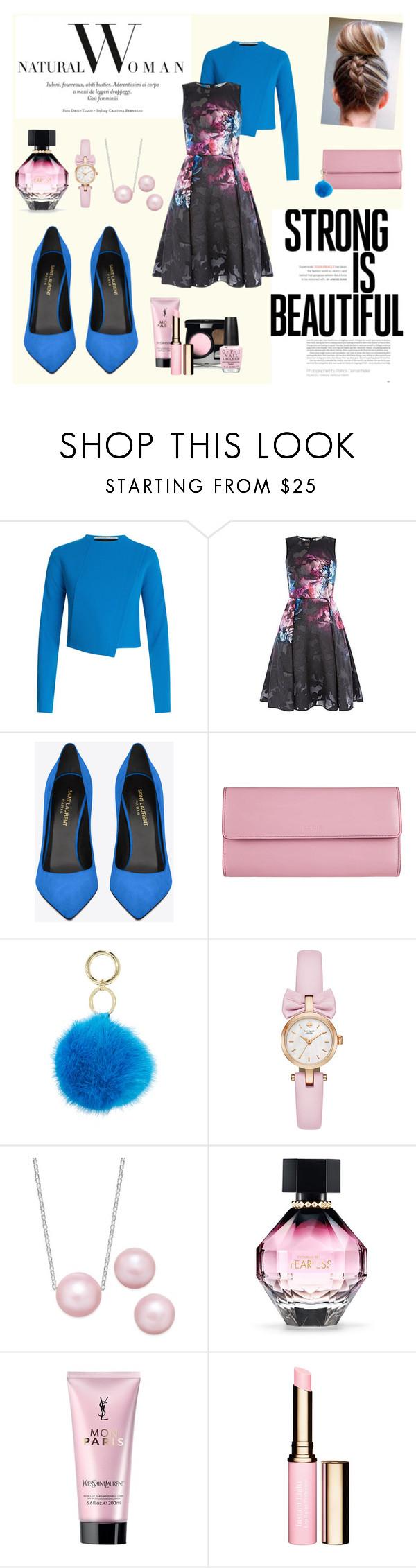 """Saint Laurent"" by suljic-melika ❤ liked on Polyvore featuring Roland Mouret, Yves Saint Laurent, Lodis, Iphoria, Victoria's Secret, OPI, black, rose and polyvorefashion"