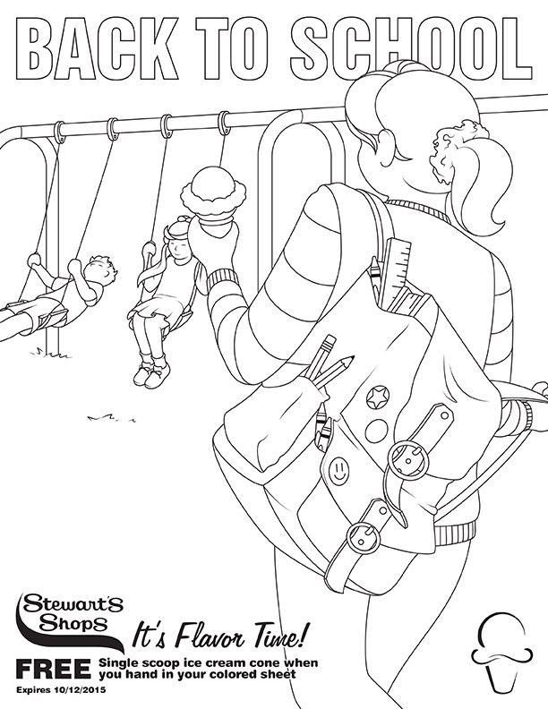 Back to School Coloring Sheet | September ideas | Pinterest | School