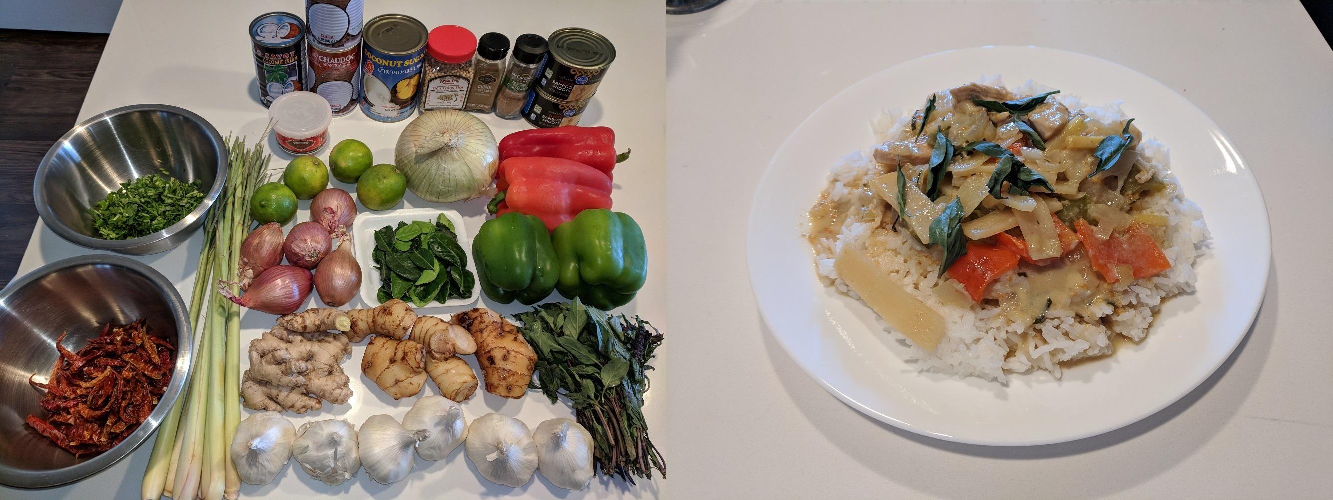 [Homemade] Thai Red Curry Pesce
