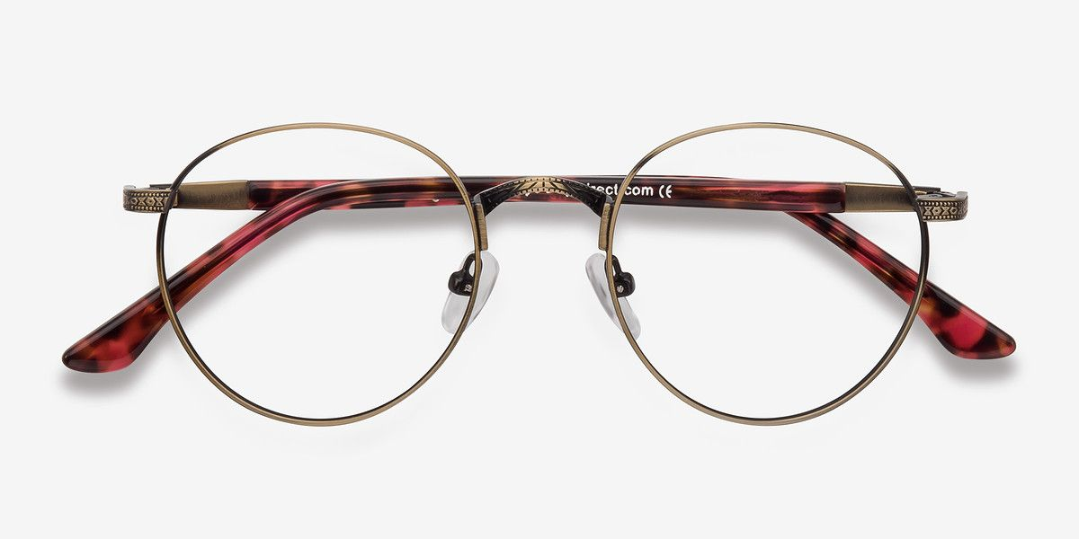 dec9d9278e Fitzgerald Bronze Metal Eyeglasses from EyeBuyDirect. Exceptional style
