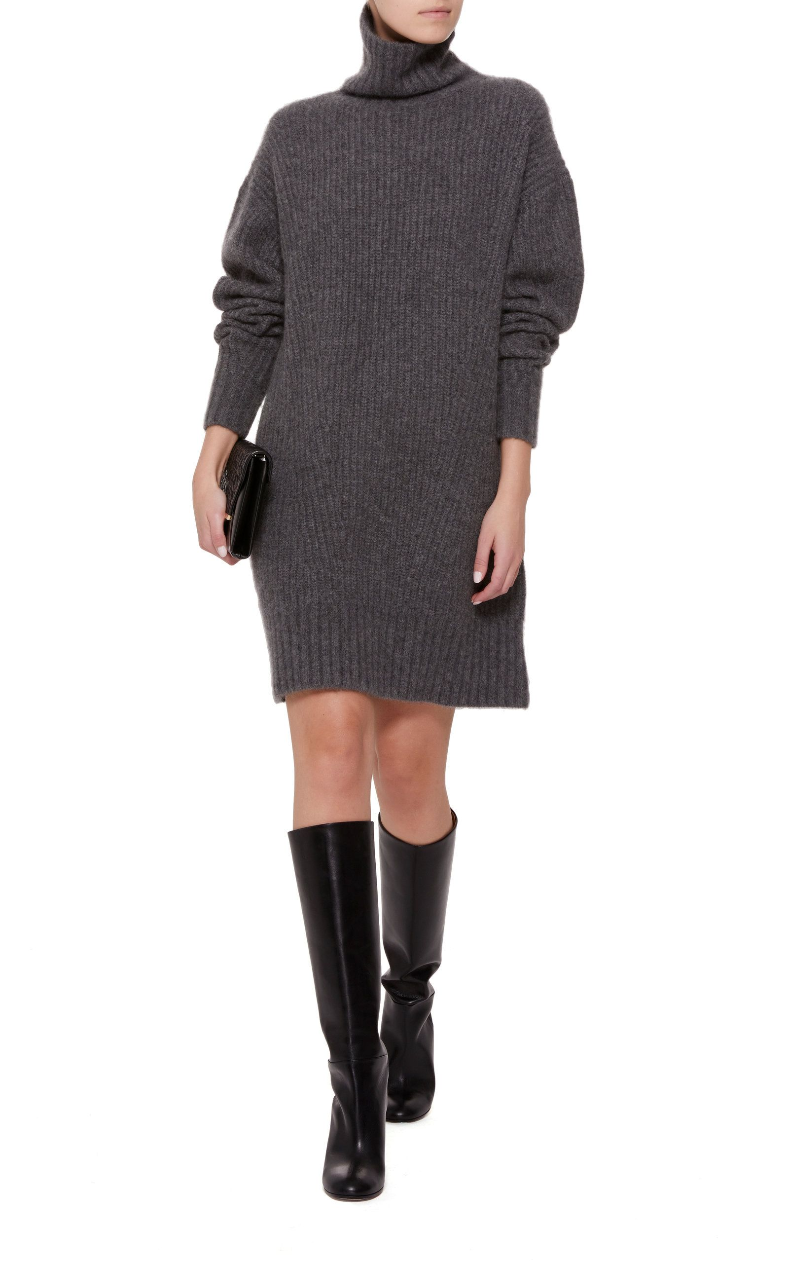 Turtleneck Lapointe Ribbed Sally Cashmere Silk Sweater And Blend Dress q7Y4xU4dw