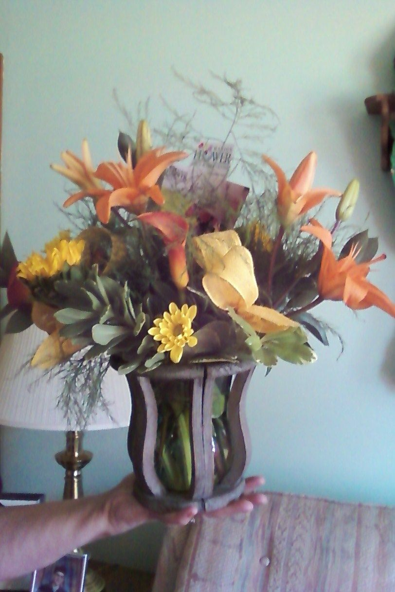 Flowers given for Aunt's 85th birthday party