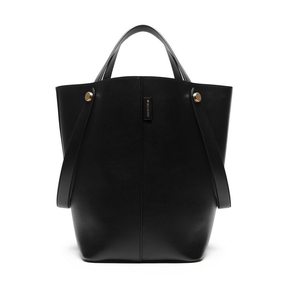 New In | Mulberry - Kite Tote in Black Flat Calf