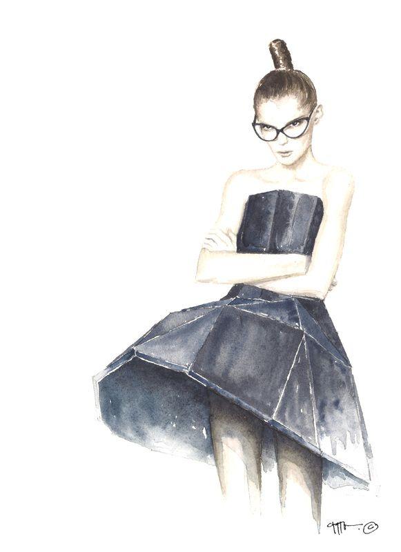 Structure Fashion Illustration Watercolor Watercolor Fashion Fashion Illustration