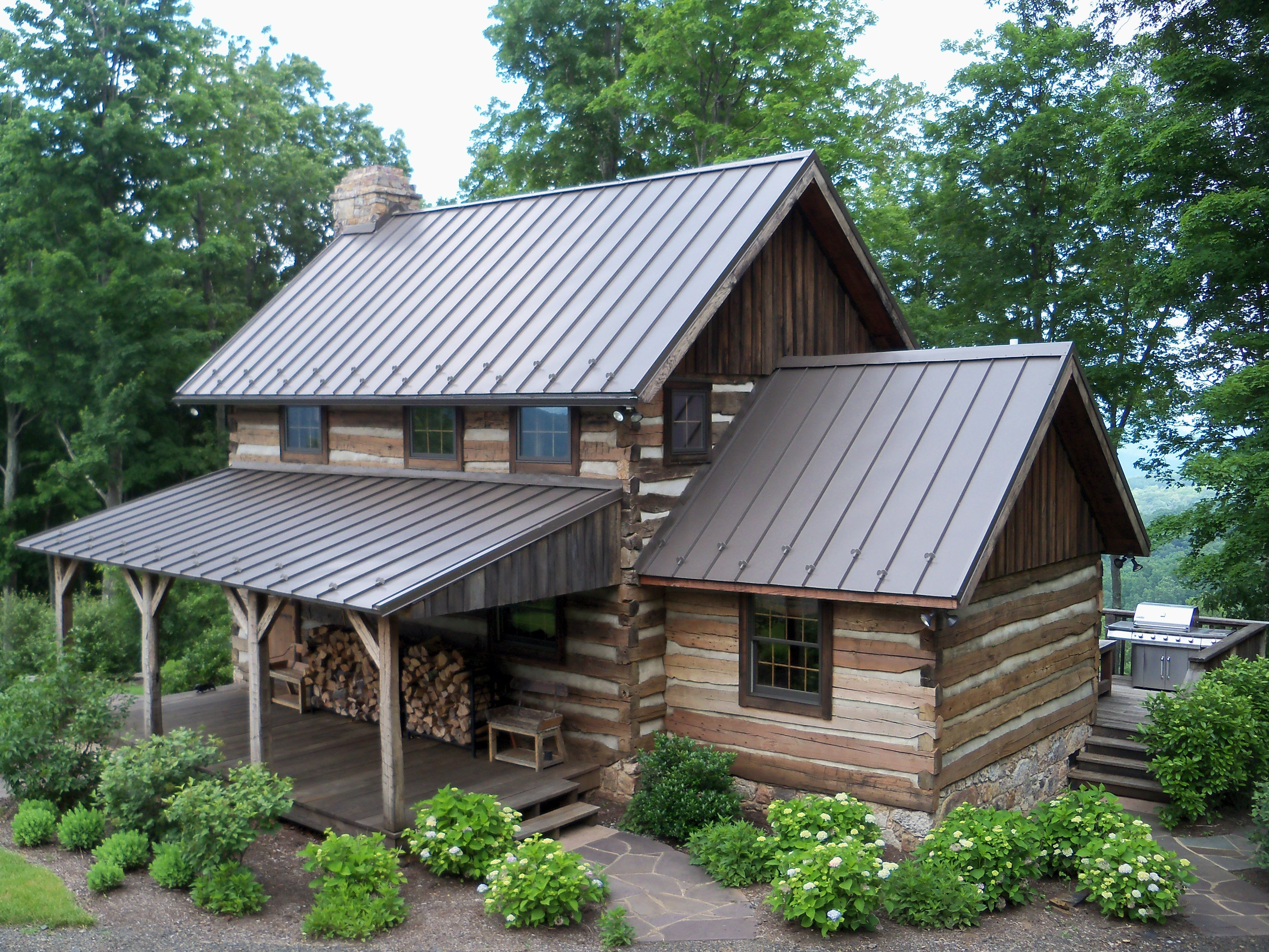 Our bath county cabin project a country log home retreat ready for relaxing summer days - Summer house plans delight relaxation ...