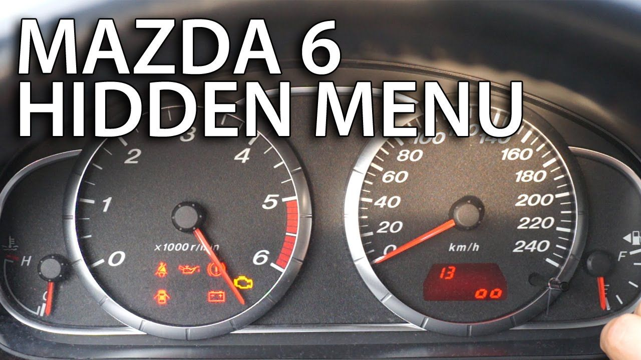 How to enter #Mazda 6 hidden menu (instrument cluster ...