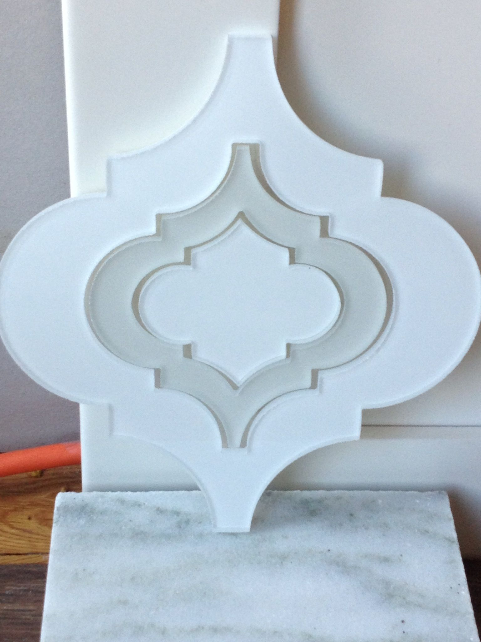 edgewater studios detailed moroccan glass tile in gloss white with linen inset backsplash of my - Glass Tile Castle Ideas