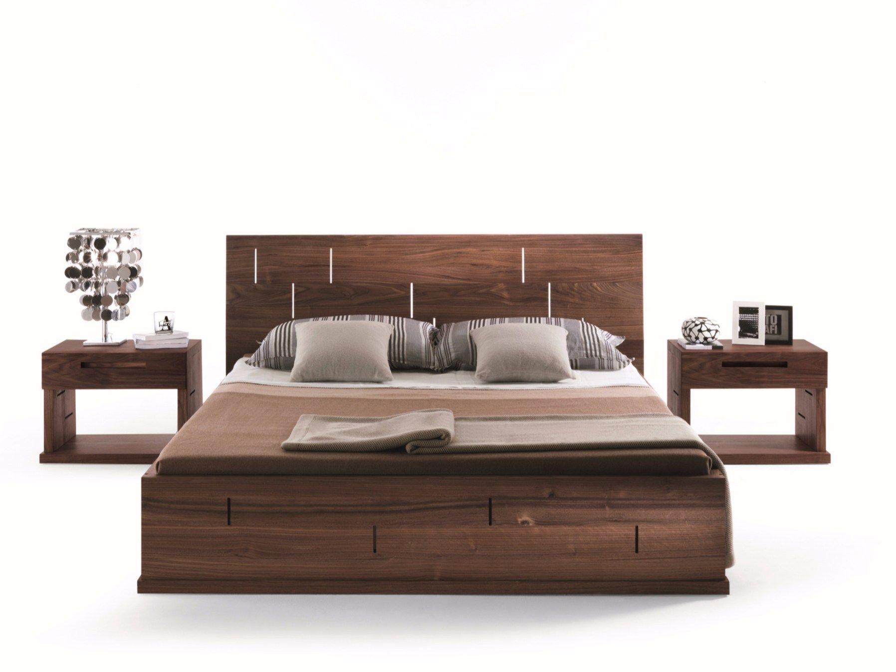 lit moderne en bois. Black Bedroom Furniture Sets. Home Design Ideas