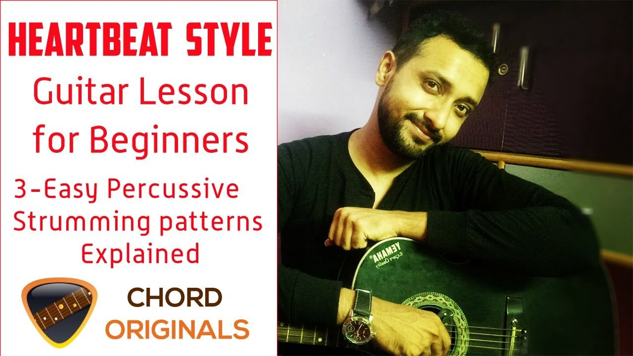 Heartbeat Guitar Lesson For Beginners 3 Easy Percussive Strumming