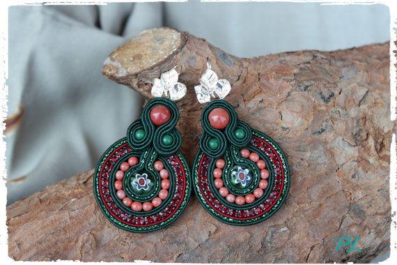 Earrings with murrine by PaolaLongocreazioni on Etsy