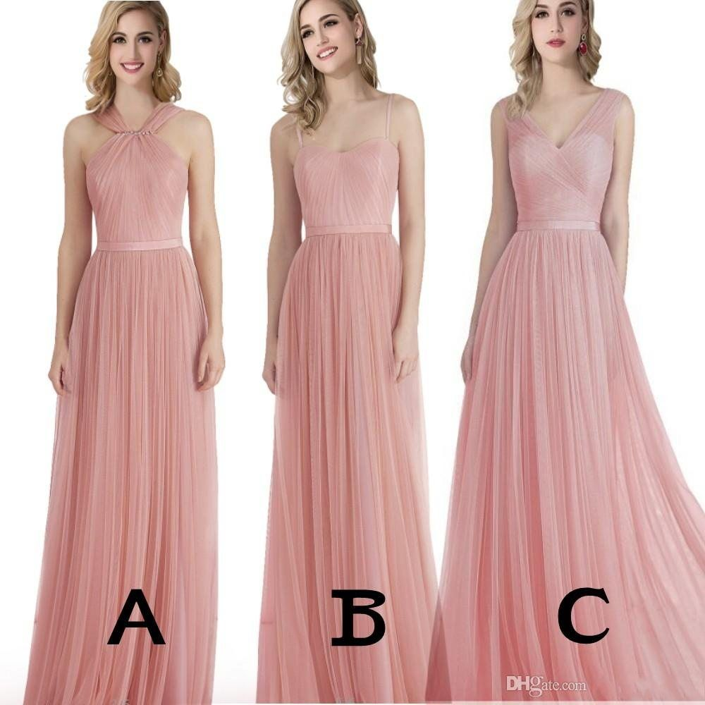 2016 new blush pink flowing a line bridesmaid dresses plus size 2016 new blush pink flowing a line bridesmaid dresses plus size gowns maid of honor cheap ombrellifo Gallery