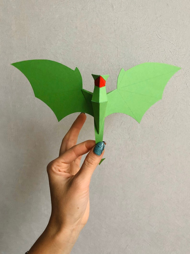 3d Create Your Own Room: Make Your Own 3D Paper Dragon Mobile