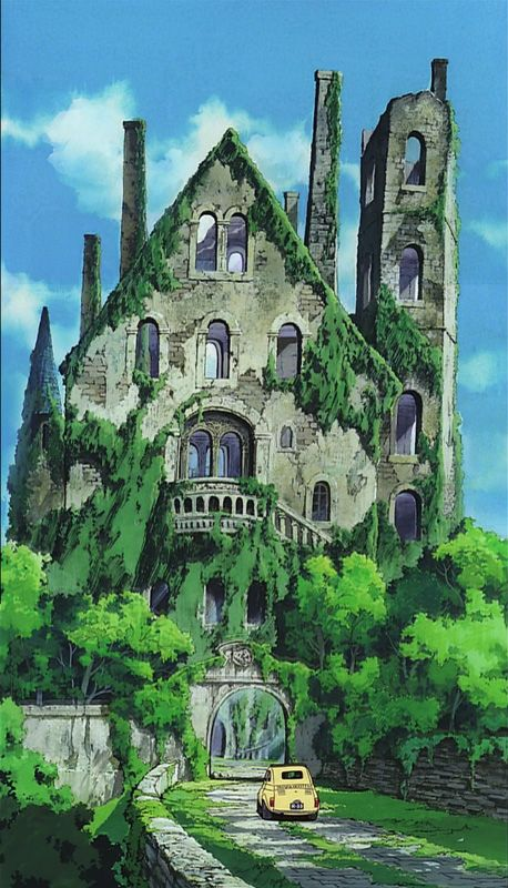 Cagliostro S Castle Look At The Animation Now Realize This Movie Is From 1979 Pretty Poopin Good Anime For Its Time アニメの風景 スタジオジブリ 風景