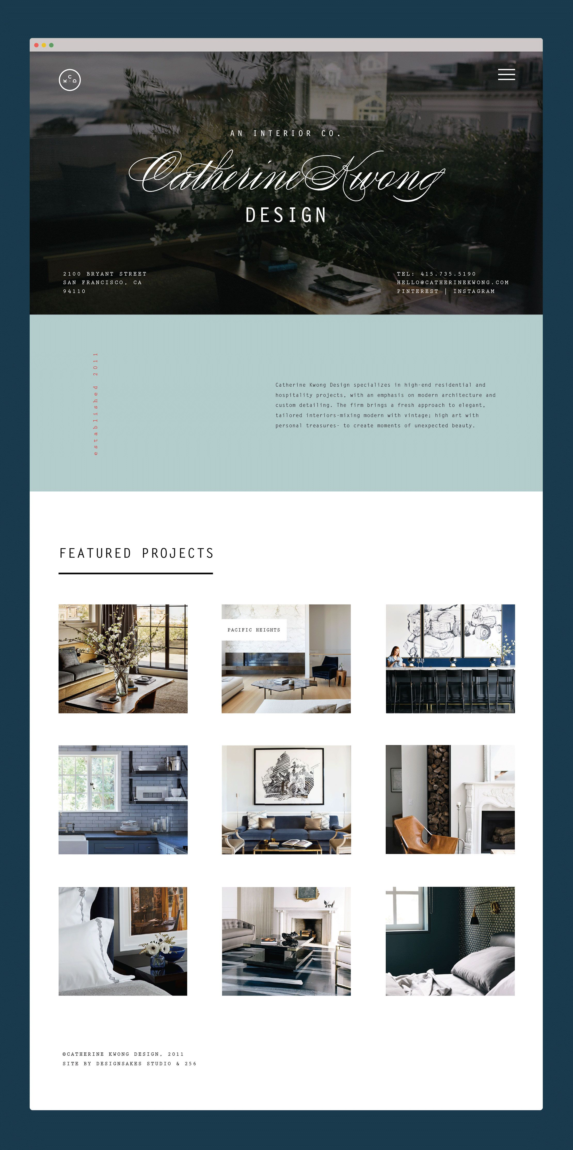 Website Design And Development For Catherine Kwong An Interior Company