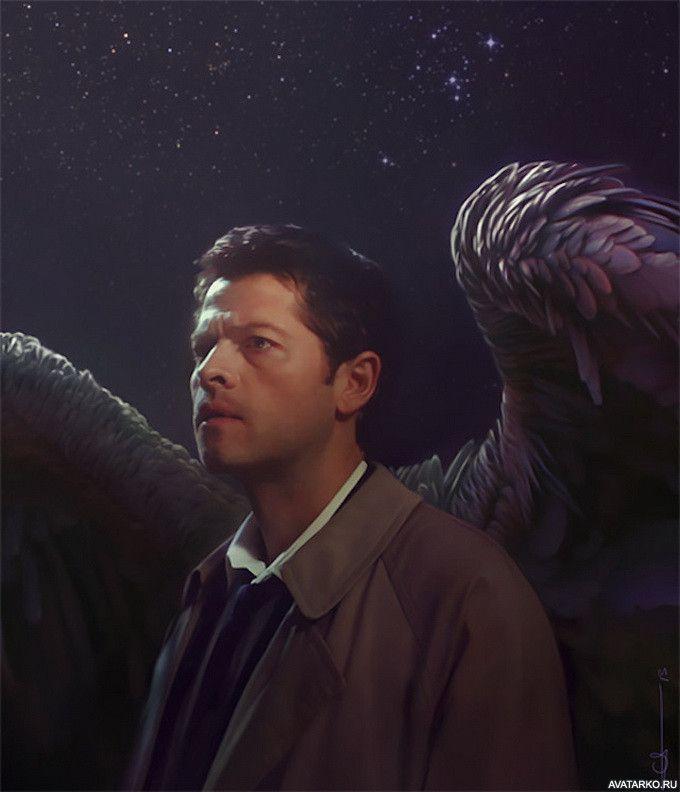 Кастиэль с крыльями из сериала Сверхъестественное — Фото ...