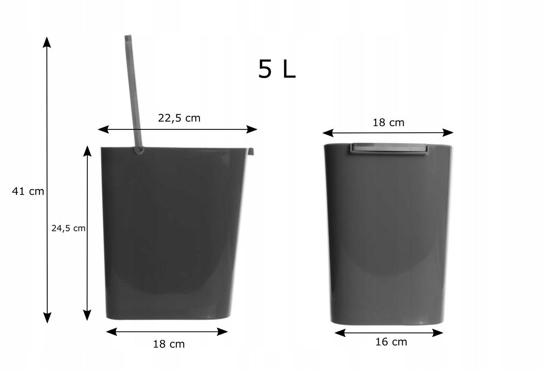 Kosz Na śmieci łazienkowy śmietnik Do łazienki 5 L