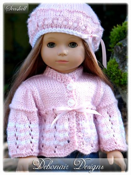 Debonair Designs Specializes In Hand Knitted Doll Clothes Knitting