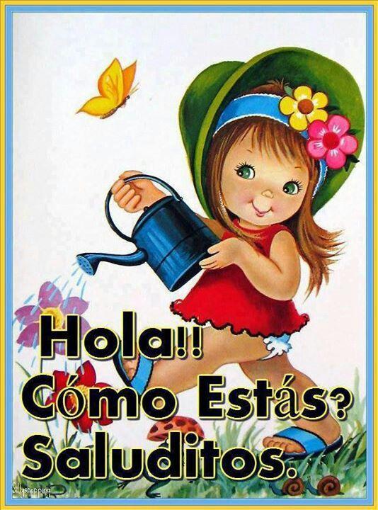 Vintage Big Eyed Girl Postcard | Spanish quotes, Spanish ...