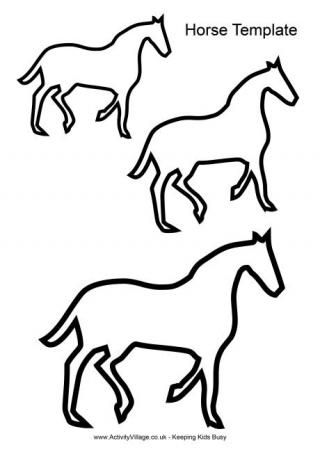 This Lovely Horse Template Can Be Used In Many Different Ways