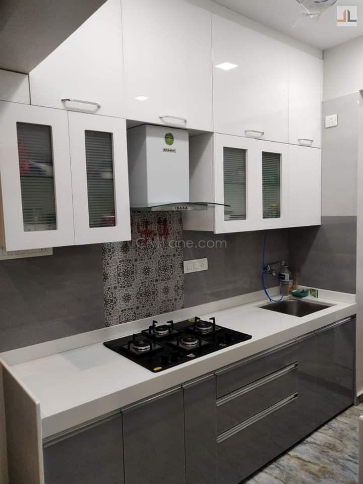 Single platform modular kitchen design   Kitchen design ...