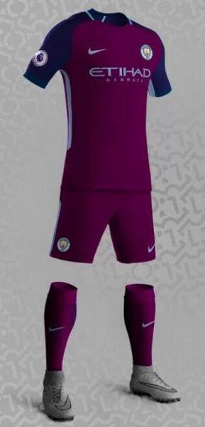Segunda Equipacion Camiseta Manchester City 2017 2018 baratas será  predominantemente de color rojo oscuro 337c5855cde8b