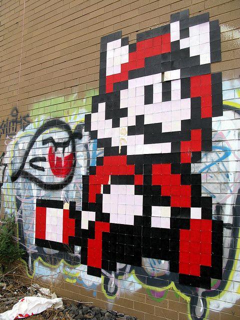 Mario Graffiti Video Game Street Art Graffiti Art Stencil Street Art Best Graffiti
