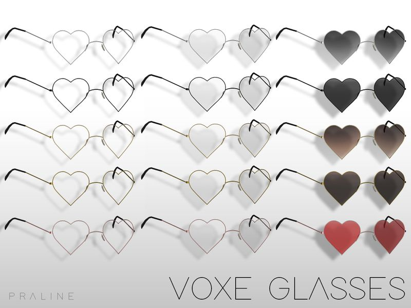 Some Cute New Heart Shaped Eyeglasses For You Found In Tsr Category Sims 4 Female Glasses Sims 4 Piercings Sims 4 Mods Sims 4 Cc