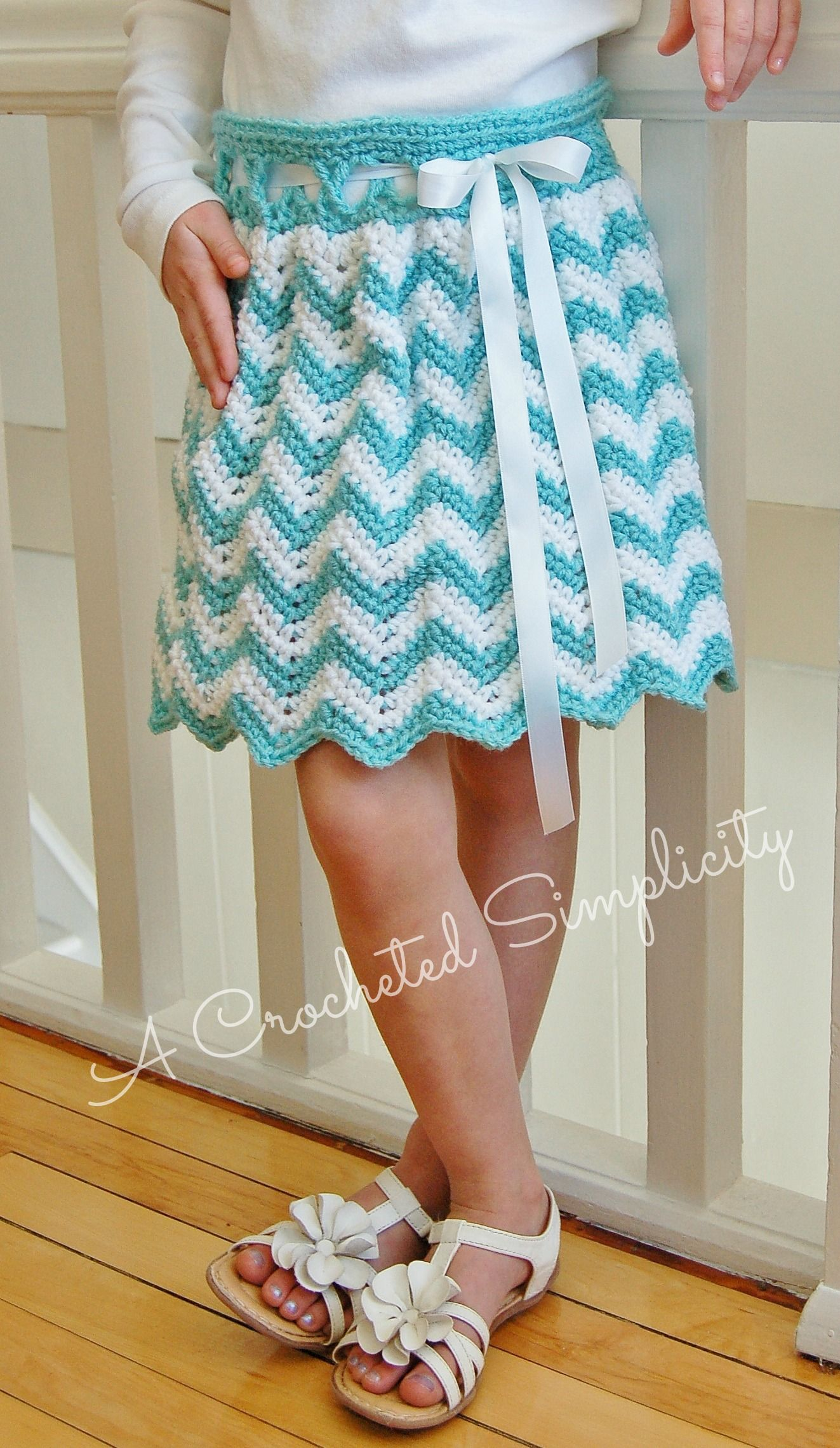 Crochet Pattern Chasing Chevrons Skirt By A Crocheted Simplicity #Crochetpattern