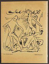 Original Lithographie Hermann Max PECHSTEIN Badende