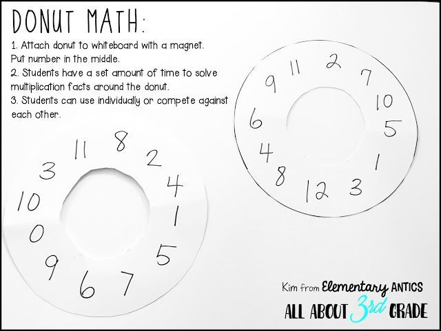 Donut Math Is Such A Fun Interactive And Easy Game For Your Kids To Practice Their Multiplicati Multiplication Facts Multiplication Common Core Math Fractions