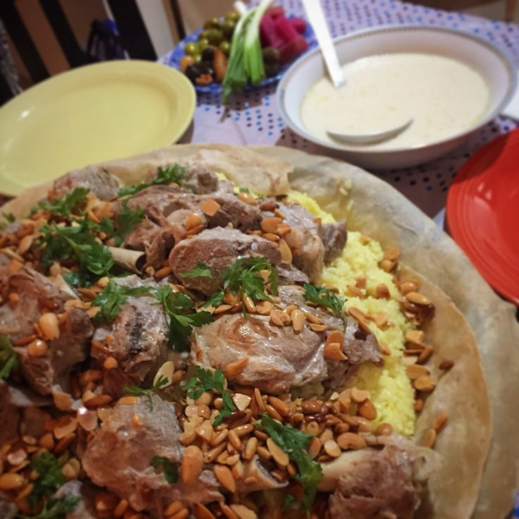 Great homemade jordanian mansaf made to mark the beginning of a new made to mark the beginning of a new year an arab tradition to eat a white yogurt dish read recipe by yanoor forumfinder Images