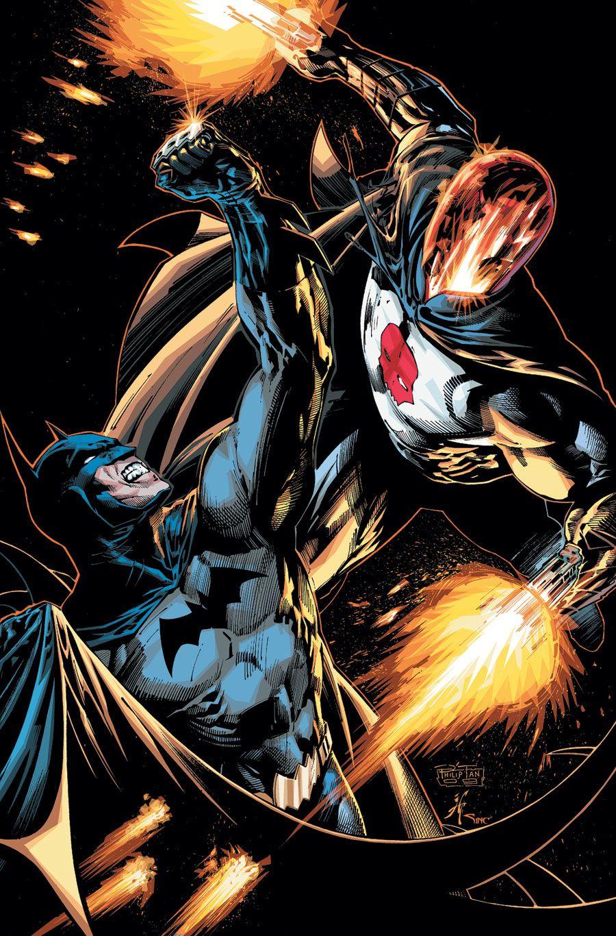 "extraordinarycomics: ""Batman vs Red Hood by Philip Tan. """