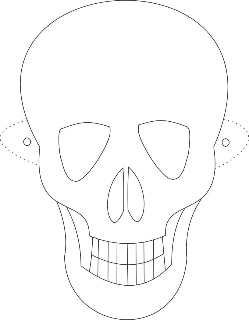 skull mask coloring pages, printable skull mask coloring ...