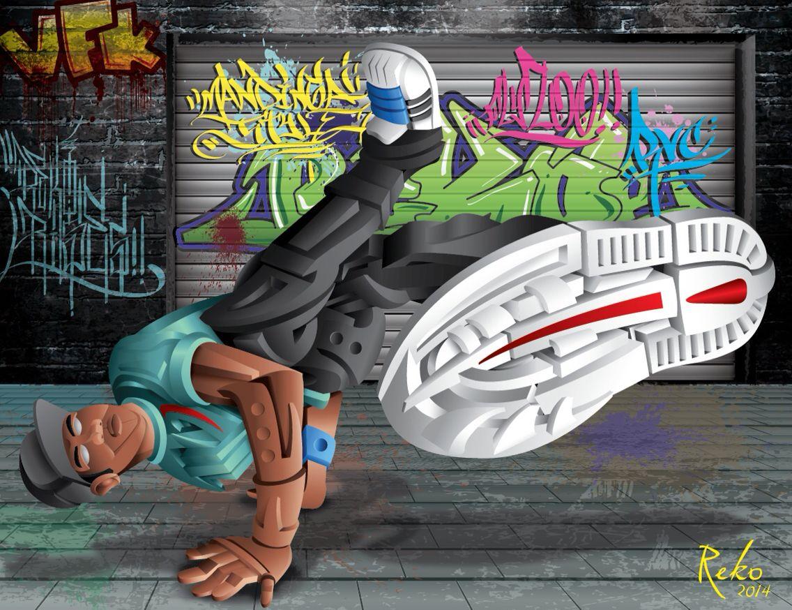Bboy fusión de ilustración y graffiti 3D #rekorises