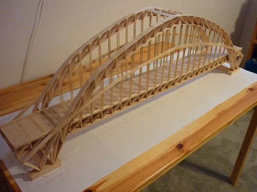 Highway made of Popsicle sticks | Popsicle Bridges ...