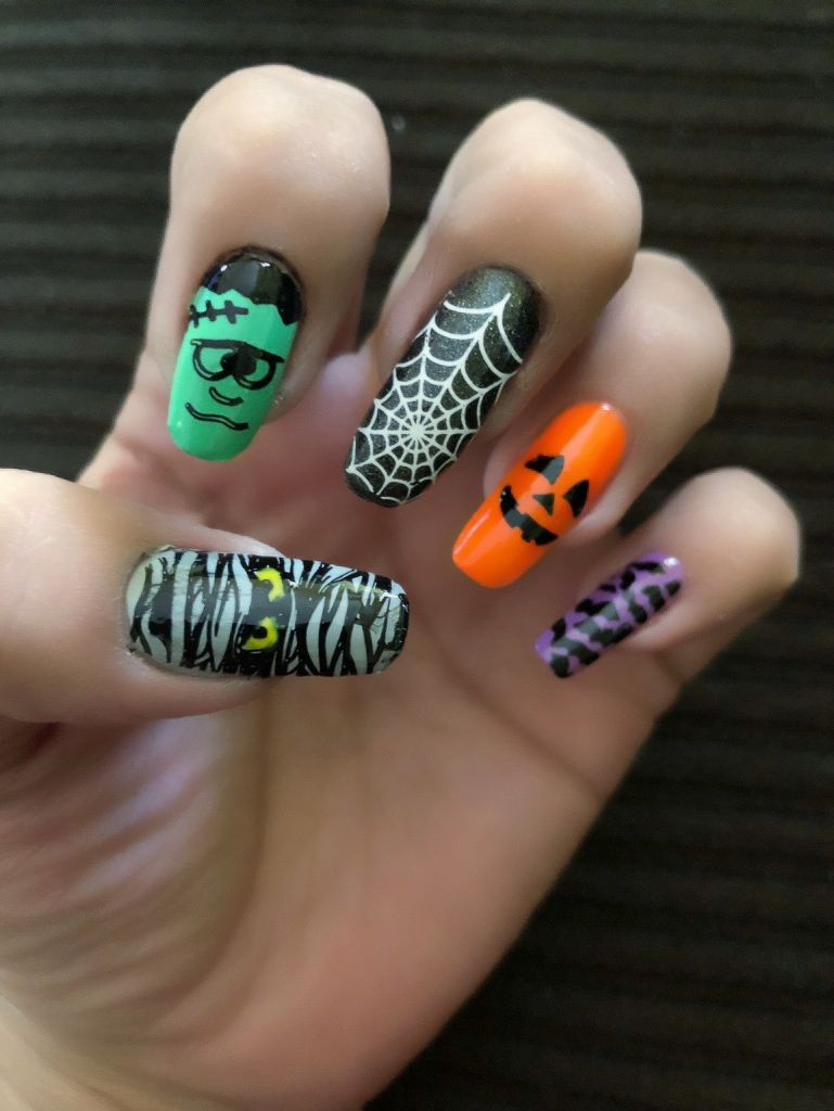 Spooky halloween nails my cute nail designs in pinterest