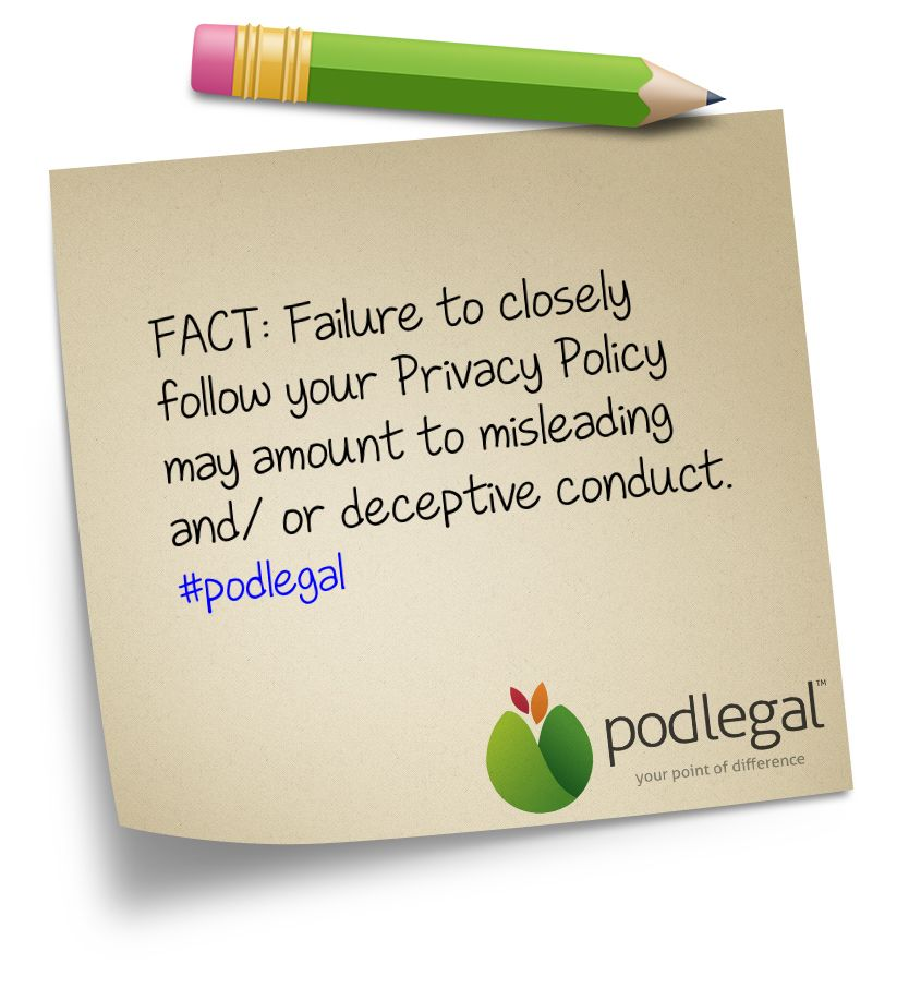Privacy Policies  If You Have One Make Sure It Is Followed