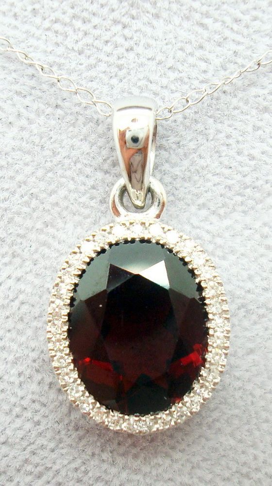 14k gold large oval genuine natural garnet pendant with diamonds 14k gold large oval genuine natural garnet pendant with diamonds 1085 pendant aloadofball Images