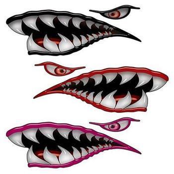 Flying Tigers Shark Teeth Decals Air Brush Painting Shark Teeth Shark
